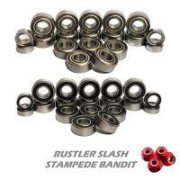 Bearing Set for TRAXXAS 2WD Rustler Slash Stampede Bandit 19 RUBBER/METAL Seals