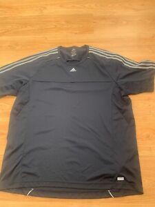 2XL Mens Adidas Climacool T-Shirt Top in Navy Blue Running Football Gym XXL