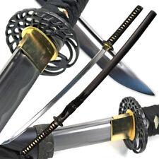 "40.5"" Handmade Crane Japanese Samurai Katana Sharp Sword Carbon Steel w/ stand"