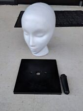 """Giell 10"""" Styrofoam Female Wig Head Display with square base holder"""