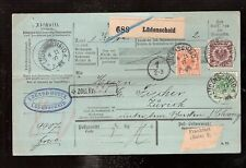 2 Germany Parcel Card Paketkarte 1897 Ludenscheid  to Zurich tricolore