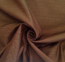 4 Metres Chocolate Truffle & Pale Duck Egg Faux Silk Dupion Curtain Fabric
