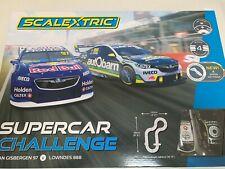 Scalextric Supercar Challenge Slot Car Set Lowndes Van GISBERGEN Commodore C1400