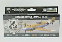 Vallejo Model Air Paint Set: Luftwaffe Maritime and tropical Colours - VAL71164