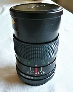 Vintage VIVITAR CAMERA LENS Auto Telephoto 135 MM 1:2.8 in Leather Case