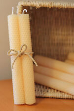 Beeswax Candles Hand Rolled - 1 Set of 2 Candles - Ivory Color Gift Set