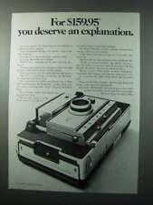 1970 Polaroid Model 350 Camera Ad - An Explanation