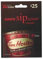 Tim Hortons 2015 USA Coffee Cup SWIPE SIP savor FD48105 Gift Card w /Hanger