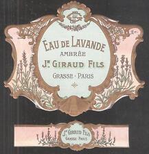 ETIQUETTE  DE  FLACON   DE  PARFUM  Jean   GIRAUD  GRASSE