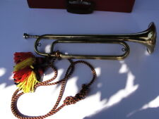 Fine quality vintage US Military Bugle in well made carrying case