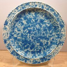 "Homer Laughlin Blue Splatter Dinner Plate 10.5"" Spatter Ware Mid Century RARE!"