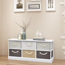 MDF Storage Bench Hallway Bedroom Living Room Unit 6 Drawers with String Handle