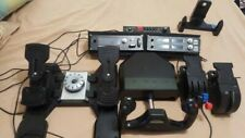 Saitek Flight simulator Yoke, Rudder, Throttle, Trim wheel and 3 panels