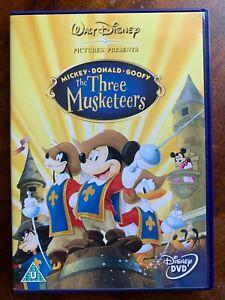 Los Tres Musketeers DVD Walt Disney Animación Clásico Familia Película