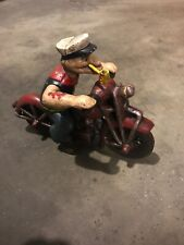 Popeye Motorcycle Toy Texaco Gulf Sinclair Michelin Harley Triumph Indian Vg NR
