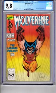 Wolverine #27 (1990) CGC 9.8 WP ' LAZARUS...PART..ONE..Karma!  Lee Cover Art!