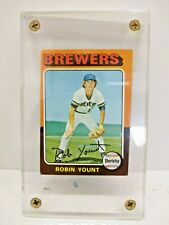 1975 TOPPS RC #223 ROBIN YOUNT Milwaukee Brewers Rookie Card Baseball Card