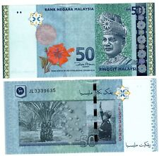 Malaisie MALAYSIA Billet 50 RINGGIT ND 2009 P50a FLEUR / ROI NEUF UNC
