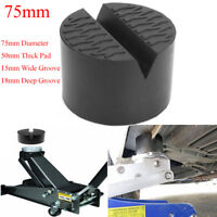 OD75mm 50mmThick Universal Slotted Frame Rail Floor Jack Disk Rubber Pad Adapter