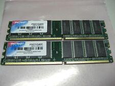 Patriot 2GB (2x1GB) PSD1G400 PC3200 (DDR-400) Desktop RAM.#R22