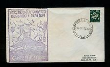 10/13/1963 Campbell Island, New Zealand Research Station Cover Penguin Sea Otter