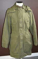Used Canadian military parka Green Sz 7 long / small (ref#P12bte183)