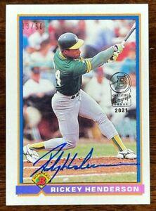 2021 Bowman Rickey Henderson 1991 Buyback On Card Auto /50 Athletics