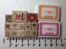Qty 13 Rubber Stamps & Ink Pads Stamping Up Scrap Booking Crafts Art