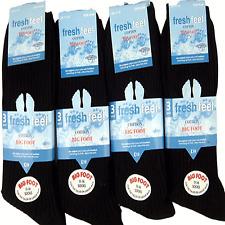 12 pairs 100% COTTON mens socks size11-14 BIG FOOT BIG FOOT BLACK  SEAM FREE TOE