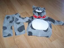 Infant Size 3-6 Months Carter's Gray Spotted Puppy Dog Halloween Costume EUC