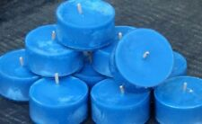 10pk 120hour burn SKY BLUE SCENTED ORGANIC SOY TEA LIGHT CANDLES BIRTHDAY PARTY