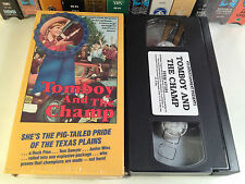 Tomboy And The Champ Rare Family Western VHS 1961 OOP HTF Houston Katy TX 4-H