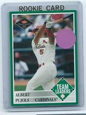 Albert Pujols 2001 01 Fleer Platinum Team Leaders Rookie Card #435 nrmnt