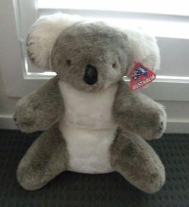 "Made in Australia original tags koala plush toy large DMO washable 16"" cuddly"