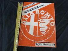 LISTINO PREZZI ALFA ROMEO RICAMBI ORIGINALI 11 GENNAIO 1988 OLD ITALY