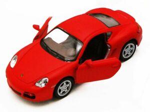 Porsche Cayman S, Red - Kinsmart 5371D - 1/34 scale Diecast Model Toy Car