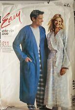 McCall's stitch'n save pattern 4211 Misses', Men's Teen's Robe & Pants  sz S,M,L