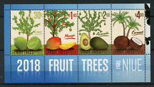 Niue 2018 MNH Fruit Trees Mango Coconut Avocado Tree 4v M/S Fruits Nature Stamps