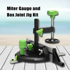 Miter Gauge Box Joint Jig Kit W/Flip Table Saws Router Table Woodworking Tool