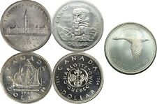 1939 and 1949 and 1958 and 1964 and 1967 Canada Silver Dollars