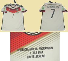 Germany 2014 jersey world cup final schweinsteiger shirt playera maglia