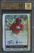 Billy Hamilton Reds 2012 Bowman Chrome Refractor Rookie rC #/500 BGS 9.5 Auto 10