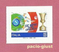 Italia 2020  NAPOLI VINCITRICE COPPA ITALIA  Francobollo singolo