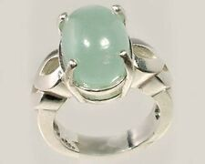 18thC 8ct Aquamarine Ancient Greek Mariner Talisman Sterling Ring