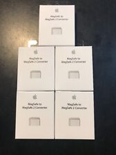 Lot of  5 100% Genuine Apple MagSafe to MagSafe 2 Converter MD504LL/A