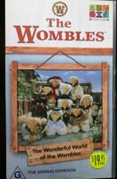 THE WOMBLES The Wonderful World Of The Wombles- VHS VIDEO