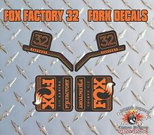 Fox FACTORY 32 2016 FORK Stickers Decals Graphics Mountain Bike Down Hill MTB