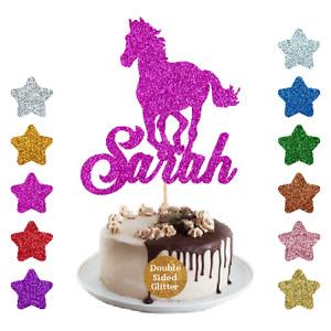 Horse Cake Topper For Girls Boys Personalised  Cake Topper Birthday Cake Decor