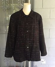 NWT Sag Harbor Women's Jacket/Blazer 24W Detailed Collar