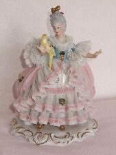 HTF Vintage German Dresden lace figure lovely